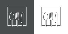Símbolo Restaurante. Icono P
