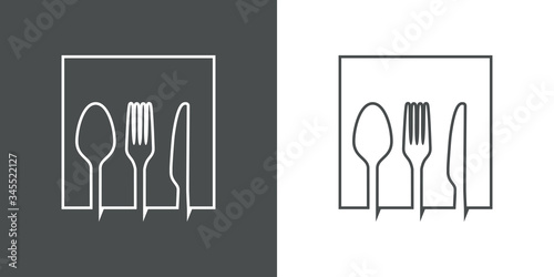 Símbolo restaurante Fotobehang