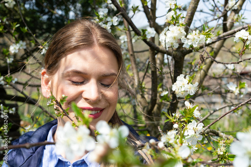 Photo Allergic reaction to tree blossom