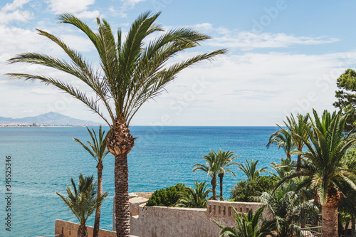 View of the mediterranean sea from Peñiscola castle, Castellon, Spain