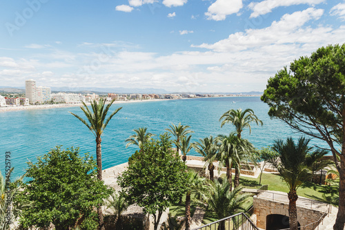 View on Peñiscola bay from Pope Luna's Castle