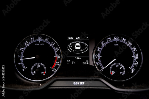 Odometer Car digital modern , Panel of devices of car afoot Wallpaper Mural