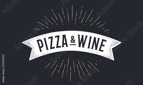 Flag ribbon Pizza Wine Fototapete