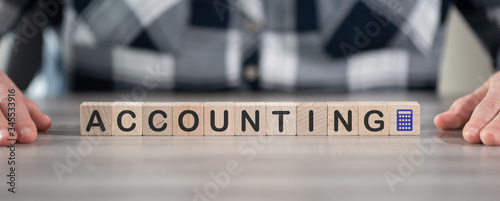 Concept of accounting Canvas Print