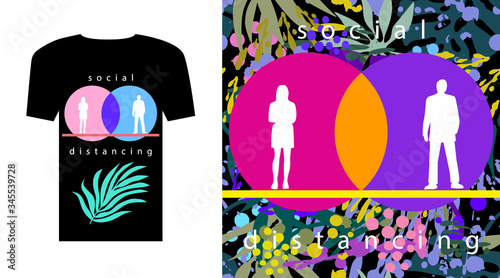 T-shirt concept and artsy background. Canvas Print