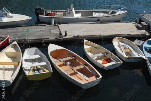 Wallpaper Mural High Angle View Of Boats Moored By Pier