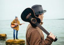 Acoustic Music Band On The Lake