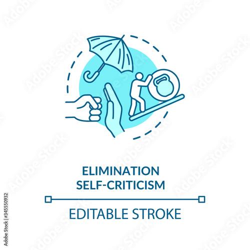 Self criticism elimination concept icon Fototapeta