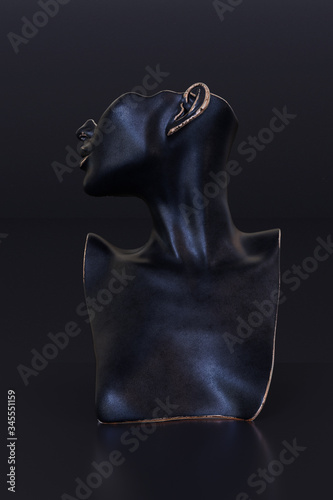 Elegant Mannequin earring Jewelry necklace display stand Canvas Print