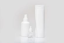 White Bottle Flacon Cosmetics ...