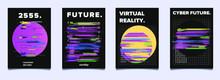 Set Of Vaporwave And Synthwave...