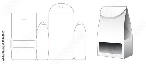 Vászonkép Gift packaging bag with window die cut template