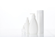 White Bottle Flacon Cosmetics ...