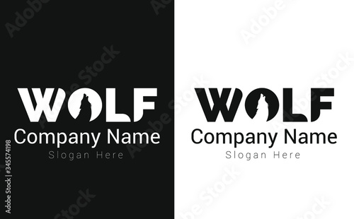 Fotomural Creative Wolf Logo Design Template vector for company