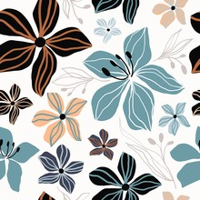 Floral Seamless Pattern, Abstr...
