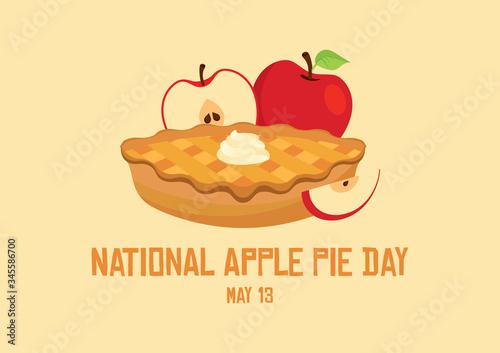 Fotografía National Apple Pie Day vector