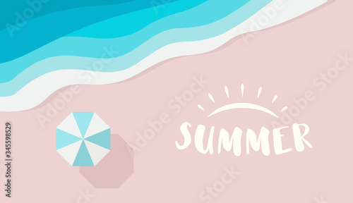 Photo Wide summer poster template with text or logo place