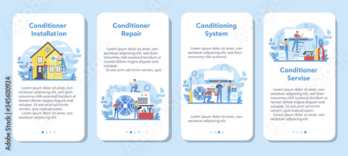 Air conditioning repair and instalation service mobile application Canvas Print