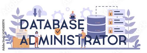 Fotomural Data base administrator concept