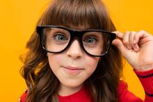 Beautiful Girl In Glasses Clos...