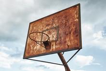 Decaying Rusty Basketball Dunk...