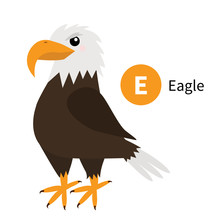Letter E. Eagle. Zoo Animal Al...