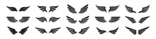 Set Of Black Wings Icons. Wing...