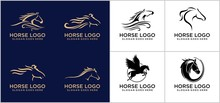 Horse Logo Concept Design Temp...