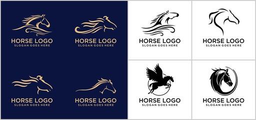 Horse logo concept design template