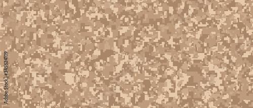 Light brown Pixel Camouflage Wallpaper Mural