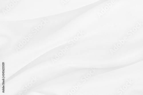 Fotografiet White fabric cloth texture for background and design art work, beautiful crumpled pattern of silk or linen