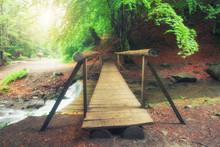 A Picturesque Wooden Bridge Ac...