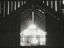 Interior Of Old Wooden Barn