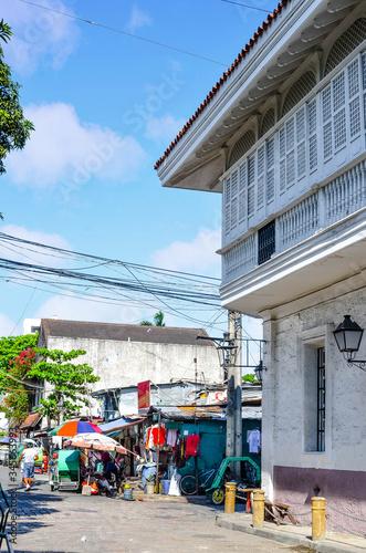 Photo petit commerce alimentaire typique dans les rues de Manille aux Philippines