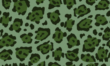 Leopard Print In Green Colors....