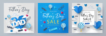 Set Of Father's Day Greeting C...