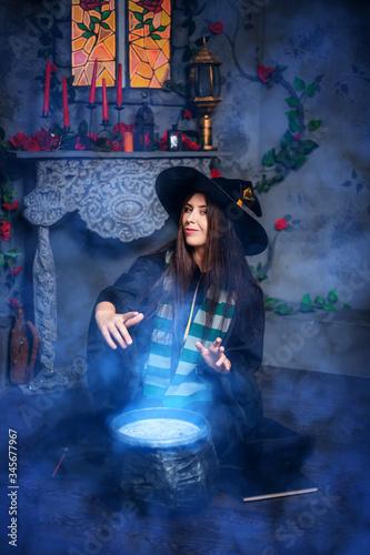 Valokuva Halloween sorceress concept