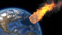 Asteroid Impact On Earth. Aste...