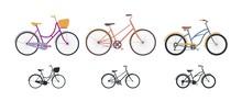 Set Of Three Vintage Bicycles ...