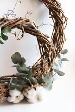 Handmade Wreath Made Of Twigs,...