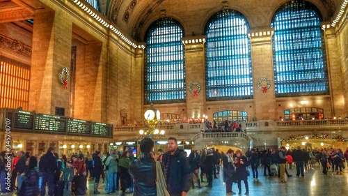 Photo Crowd At Grand Central Station