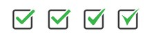 Set Of Check Or Tick Icon On A...
