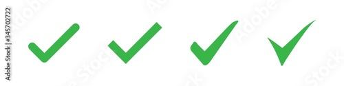 Fotografija Set of check or tick icon on a white background