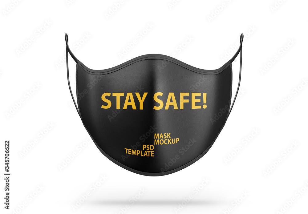 Fototapeta Face Mask Mockup Front Side View