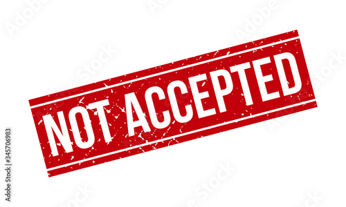 Not Accepted Rubber Stamp Canvas Print