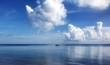 Leinwandbild Motiv Cumulus Clouds Over Sea