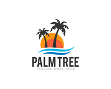 Palm Tree Logo Design Vector