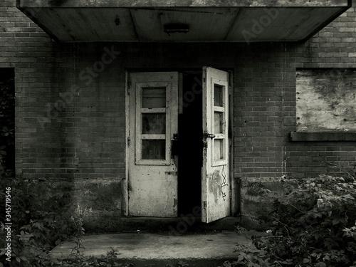 Photo Ajar Door Of Old Building