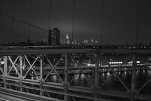 Brooklyn Bridge At Night In City