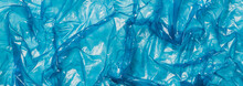 Blue Plastic Bag Background, Long Banner